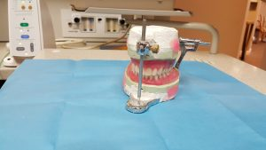 Dentures in dentist